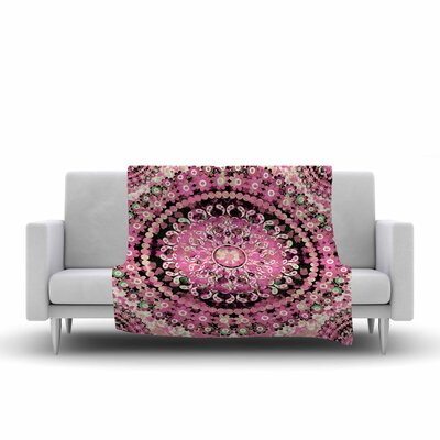Nina May Mosaic Mandala Illustration Fleece Throw Size: 60 W x 80 L
