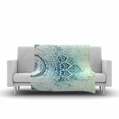 Nika Martinez Mina Mandala Geometric Fleece Throw Size: 60 W x 80 L