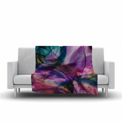 Malia Shields Bubble Series #5 Abstract Painting Fleece Throw Size: 60 W x 80 L