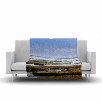 Nick Nareshni Low Tide Reef Photography Fleece Throw Size: 60 W x 80 L