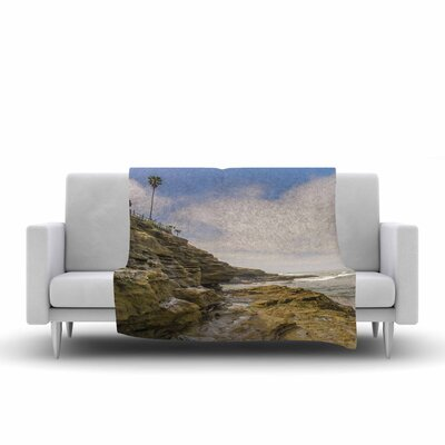 Nick Nareshni Rocks Over the Water Fleece Throw Size: 60 W x 80 L