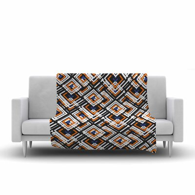 Neelam Kaur Jumbled Digital Fleece Throw Size: 50 W x 60 L