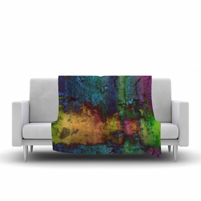 Nina May Rainbow Saltwater Painting Fleece Throw Size: 60 W x 80 L