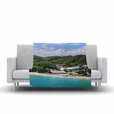 Nick Nareshni Forest on the Beach Photography Fleece Throw Size: 60 W x 80 L