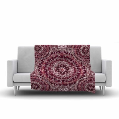 Nina May Madera Mandalas Illustration Fleece Throw Size: 50 W x 60 L