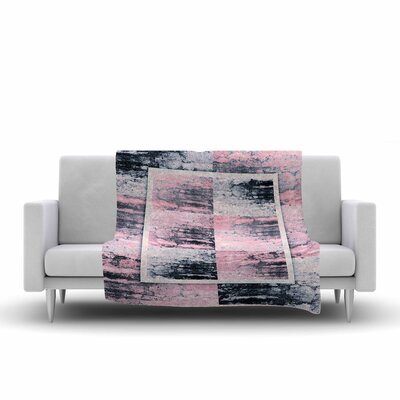 Nina May Tavertina Mixed Media Fleece Throw Size: 60 W x 80 L, Color: Pink