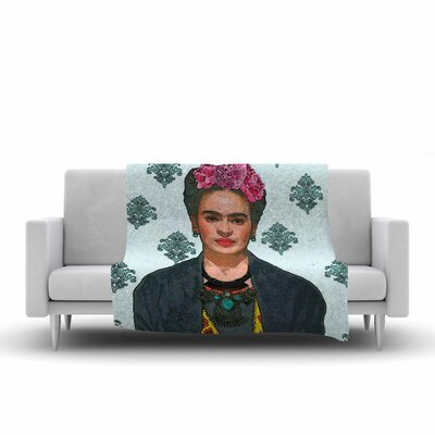 Oriana Cordero Frida Kahlo Trendy V2 Fleece Throw Size: 50 W x 60 L