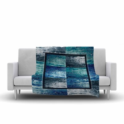 Nina May Tavertina Mixed Media Fleece Throw Color: Blue, Size: 50 W x 60 L