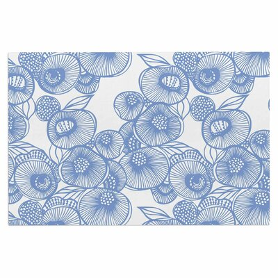Gill Eggleston Protea Graphite Flowers Doormat