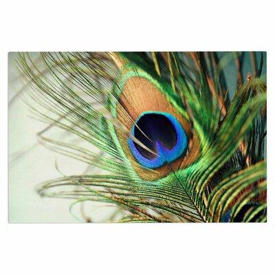 Sylvia Cook Peacock Feather Doormat