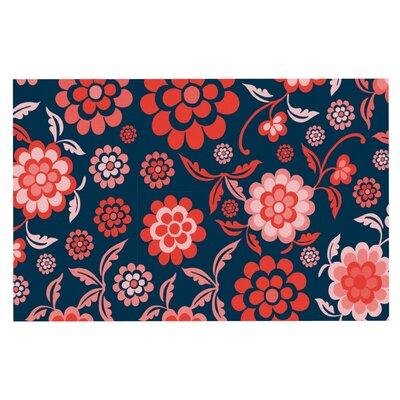Nicole Ketchum Cherry Floral Doormat Color: Midnight
