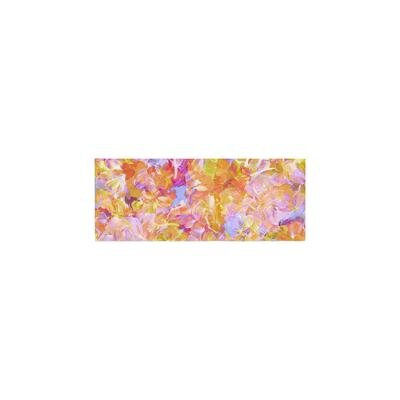 Ebi Emporium Bloom On! Abstract Bed Runner Color: Yellow/Orange
