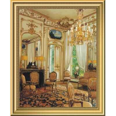 'Gold Sitting Room' Framed Oil Painting Print EASN5220 39514580