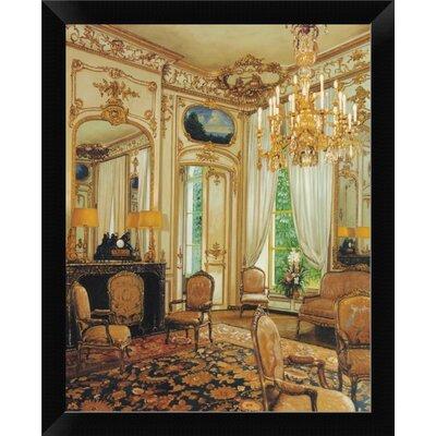 'Gold Sitting Room' Framed Oil Painting Print EASN5221 39514581