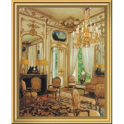 'Gold Sitting Room' Framed Oil Painting Print EASN5222 39514582