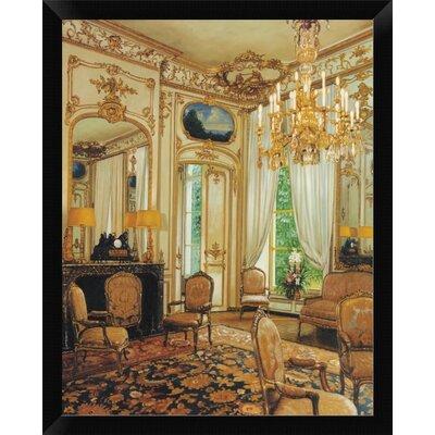 'Gold Sitting Room' Framed Oil Painting Print EASN4864 39514223