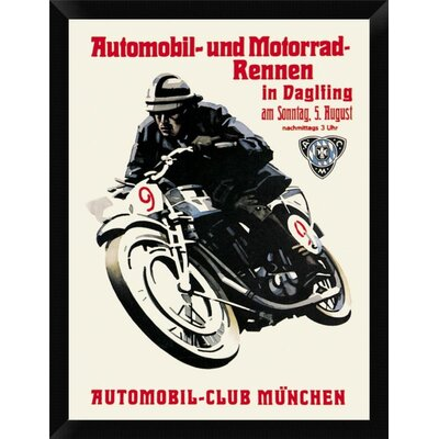 'Automobile and Motorcycle Race - Munich' Framed Graphic Art Print EASN5315 39514675
