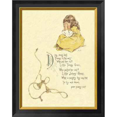 'Nursery Rhymes: Ding Dong Bell Pussy' Framed Graphic Art Print EASN7911 39525303