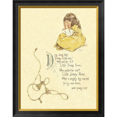 'Nursery Rhymes: Ding Dong Bell Pussy' Framed Graphic Art Print EASN7912 39525304