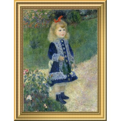 'A Girl with a Watering Can 1876' Framed Oil Painting Print