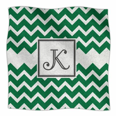 Monogram Chevron Fleece Throw