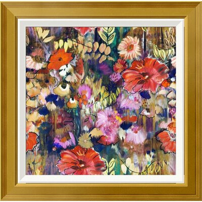 "'Garden of Golden Threads' Framed Print on Canvas Size: 28"" H x 28"" W, Matte Type: None EUAH7798 39833253"