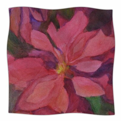 Cyndi Steen Cool Poinsettias Fleece Throw Size: 50 W x 60 L