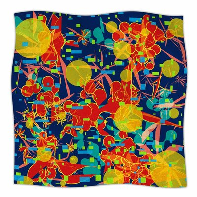 Frederic Levy Hadida Foliage Folie 2 Digital Fleece Throw Size: 50 W x 60 L