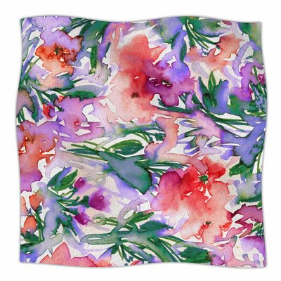 Ebi Emporium Floral Destiny 8 Watercolor Fleece Throw Size: 50 W x 60 L