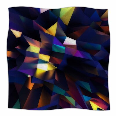 Danny Ivan Low Iris Poly Illustration Fleece Throw Size: 60 W x 80 L