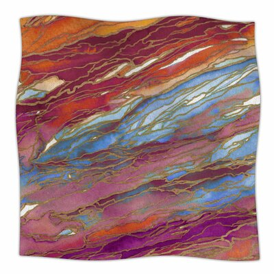 Ebi Emporium Agate Magic, Autumn Dust Watercolor Fleece Throw Size: 50 W x 60 L