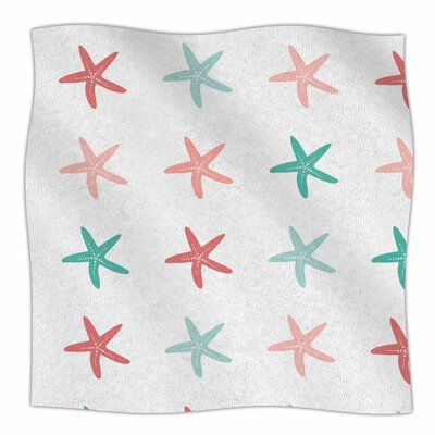 Afe Images Starfish Pattern II Illustration Fleece Throw Size: 50 W x 60 L