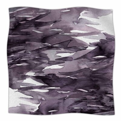 Ebi Emporium Fervor 9 Watercolor Fleece Throw Size: 60 W x 80 L