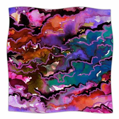 Ebi Emporium Radiant Skies Painting Fleece Throw Size: 50 W x 60 L