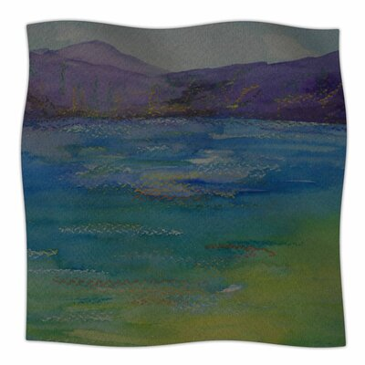 Cyndi Steen Mountains Fleece Throw Size: 50 W x 60 L