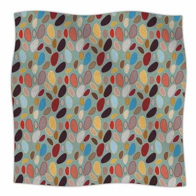 Empire Ruhl Fall Pebbles Digital Fleece Throw Size: 60 W x 80 L
