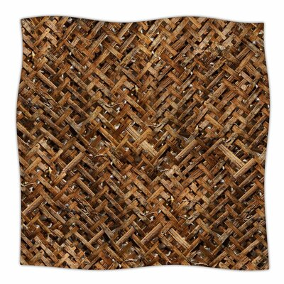 Susan Sanders Bamboo Basket Weave Photography Fleece Throw Size: 50 W x 60 L