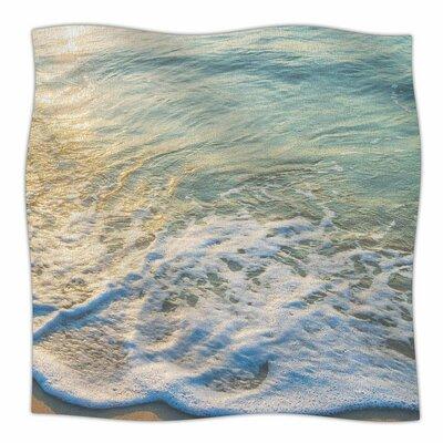 Susan Sanders Ocean Beach Water Photography Fleece Throw Size: 60 W x 80 L