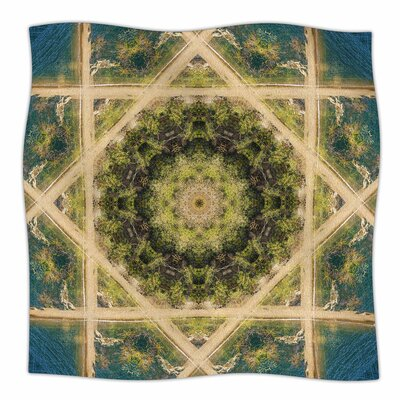 Nick Nareshni Forest Mandala Geometric Fleece Throw Size: 60 W x 80 L