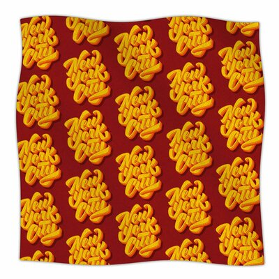 Roberlan New York City Brush Pattern Vector Fleece Throw Size: 50 W x 60 L