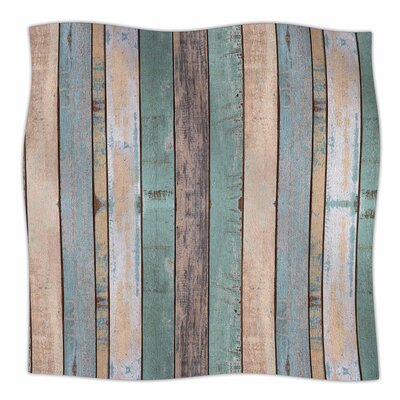 Susan Sanders Beach Wood Photography Fleece Throw Size: 60 W x 80 L