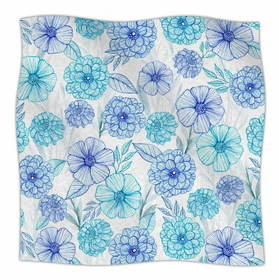 Julia Grifol Sweet Garden Watercolor Fleece Throw Size: 50 W x 60 L