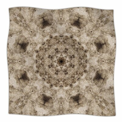 Nick Nareshni Sandy Beach Mandala Pattern Fleece Throw Size: 50 W x 60 L