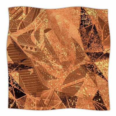 Mariannakelevich Geometry of Fire Mixed Media Fleece Throw Size: 60 W x 80 L