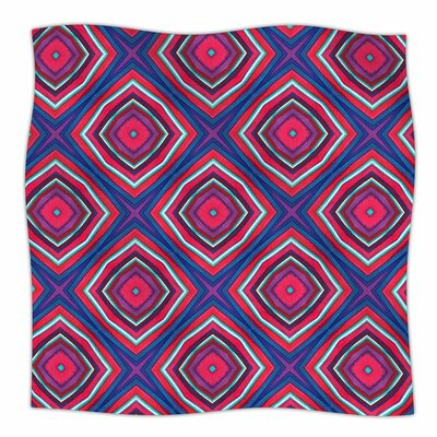 Miranda Mol Watercolor Diamonds Fleece Throw Size: 50 W x 60 L