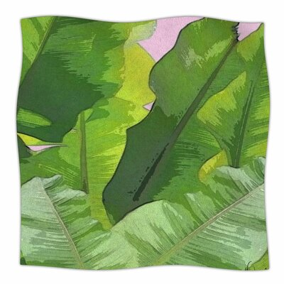 Oriana Cordero Banana Tropics Fleece Throw Size: 50 W x 60 L