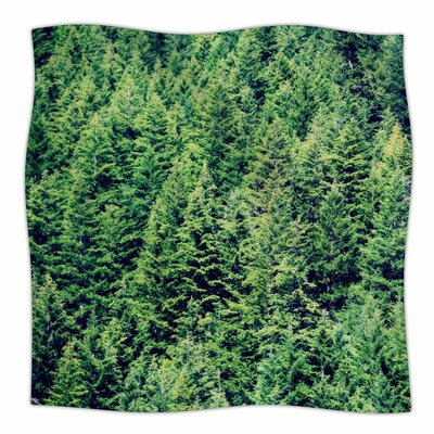 Robin Dickinson Summertime Woodlands Fleece Throw Size: 50 W x 60 L