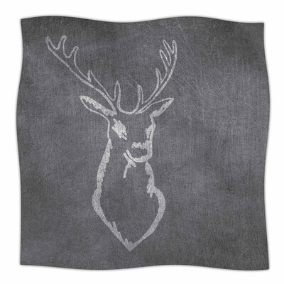 NL Designs Chalkboard Deer Digital Fleece Throw Size: 50 W x 60 L