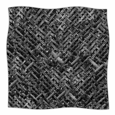 Susan Sanders Charcoal Bamboo Weave Photography Fleece Throw Size: 50 W x 60 L