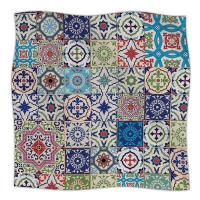 Susan Sanders Eclectic Boho Tile Photography Fleece Throw Size: 60 W x 80 L